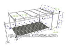 RP Aluminum stage roof truss systems / aluminum spigot truss