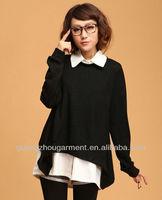 2012 woman fashion fake two-piece lapel collar winter blouse