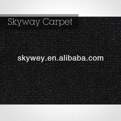 ribbed black pattern carpet