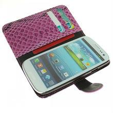 Unique SlideMixer Design Elegent Wallet Leather case for Galaxy S3 i9300+Free screen protector