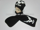 Fashion winter sets with hat and scarf , winter knitted scarf