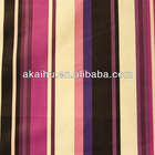 Stripe Printed Velvet upholstery Fabric Purple white