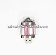 Cute Locker Design Shinny Crystal Jewelry USB Flash Devices