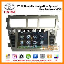 Brand YOTOON - Factory Car DVD AV Multimedia 7'' GPS Navigation System Special Use for New Toyota Vios