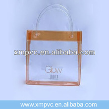 Hot sales clear plastic candy handbag with logo printing XYL-H361