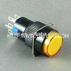yellow Round 16mm diameter led light illuminated pushbutton switch 12V FL3-041