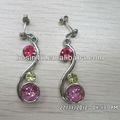 liga de diamante rosa personalizado estilo indiano brinco pingente design de jóias