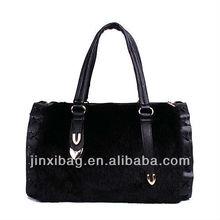 2013 ultimo disegno borse da donna con borsa lusso finto visone pelliccia
