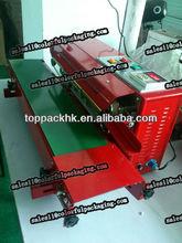 Export to Australia automatic impulse plastic film heat sealing machine/Continuous plastic bag sealer heat sealing machine