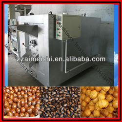 Gas heating Nuts mung bean roaster machine