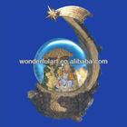 cheap polyresin nativity scene snow globe