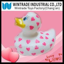 Valentine Heart Printing White Duck