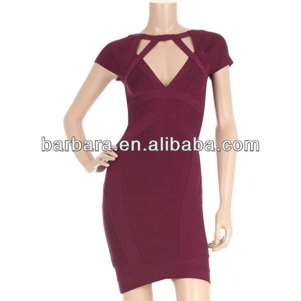 famous design dress red bandage dress