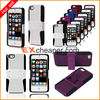 Silicone plastic Net Combo Case 2 in 1 Hybird Protective case with support cover for iphone 5 5G