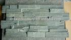 Green ledge slate veneer wall panel