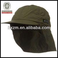 high quality microfiber taslon hat with back flap