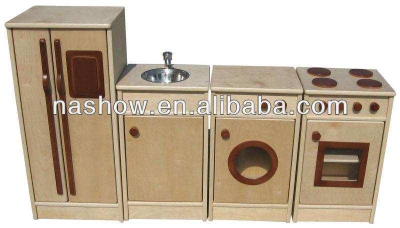 Los ni os de madera de la cocina muebles otros muebles for Cocinas de madera para ninos