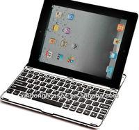 For ipad4 alum ultrathin Bluetooth Keyboard;for ipad mini Wireless Keyboard