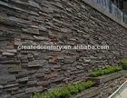 Natural rusty slate veneer stacked ledge culture stone