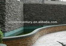 Veneer stacked ledge culture slate wall tile