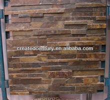 Natural rusty slate bathroom wall panel