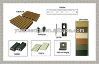 Outdoor WPC Decking with low maintaince 15years warranty