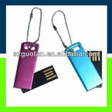 USB 1.1 USB2.0 8GB Rectangle Blue/Purple Rotate USB Flash Drive