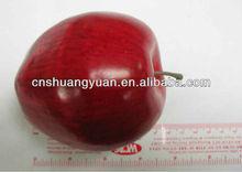 2013 Artificial red apple, foam ornament
