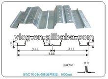 Galvanized steel floor deck