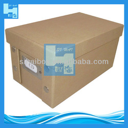 2013 natural paper foldable cd storage can
