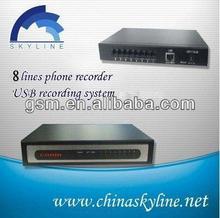 USB voice recorder box with 8port/recorder magic pen