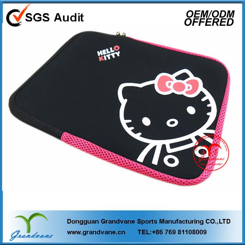 Neoprene laptop bag with hello kitty printing #321-0358