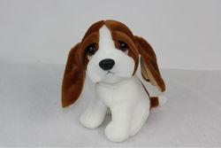 20cm in sitting size lovely design plush dog for kids