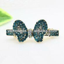 Fashion Jewelry-2013 best selling blue butterfly shape hair clip, wedding gift, diamond jewelry