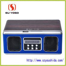 SU-10 2012 shenzhen manufacture cheap mini speaker with usb sd fm