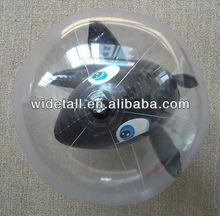 inflatable animal inside beach ball/ inflatable ball with ball inside