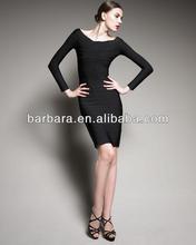 Barbara elegant long sleeve evening dress 2012 ,retail,wholesale,OEM