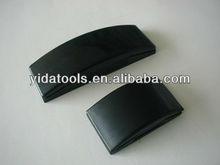 2012 caliente de la venta de paneles de yeso negro de goma a mano bloque de lijado