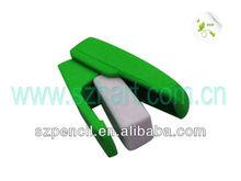 Promotional gift school supplier stapler shaped eraser