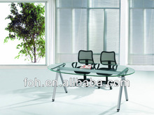 Oral Shap Glass Office Table- Negotiation Table- Meeting Table( FOHXL-304#)