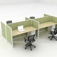 office work station, call center cubicle, 4 person worsktation