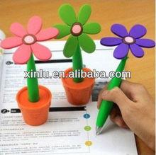 Sunflower flower silicone shape ballpoint pen