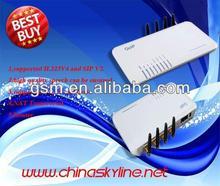 Internal antenna goip 4 port/dual port network card for 4 channel voip gateway
