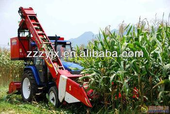 High output mini corn combine harvester
