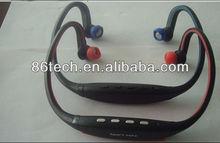 2012 New headset sports wireless mp3 player with FM radio