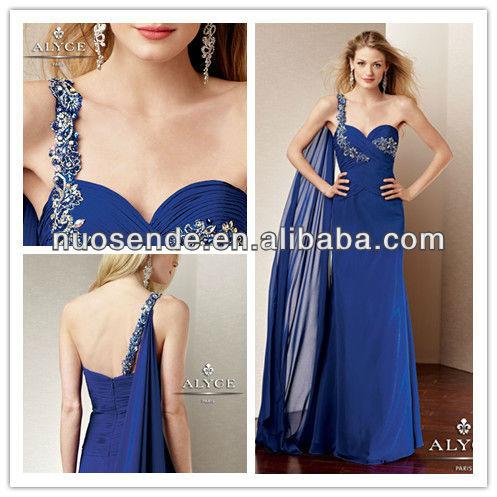 Blue  Shoulder Dress on Royal Blue Evening Dresses 2013 Beaded One Shoulder Evening Gowns 2013