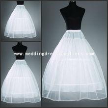 PT002 Hot sale Cheapest 2 Hoop Underskirt Crinoline Wedding Accessories Wedding Bridal Ball Gown Dress Petticoat