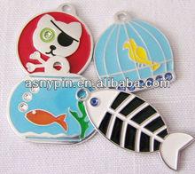 Pet/Dog/Cat ID Tag - Pirate, Fish, Bird bling Cat charm