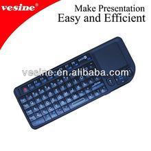 2.4g wireless mini keyboard with touchpad