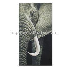 Elephant oil painting